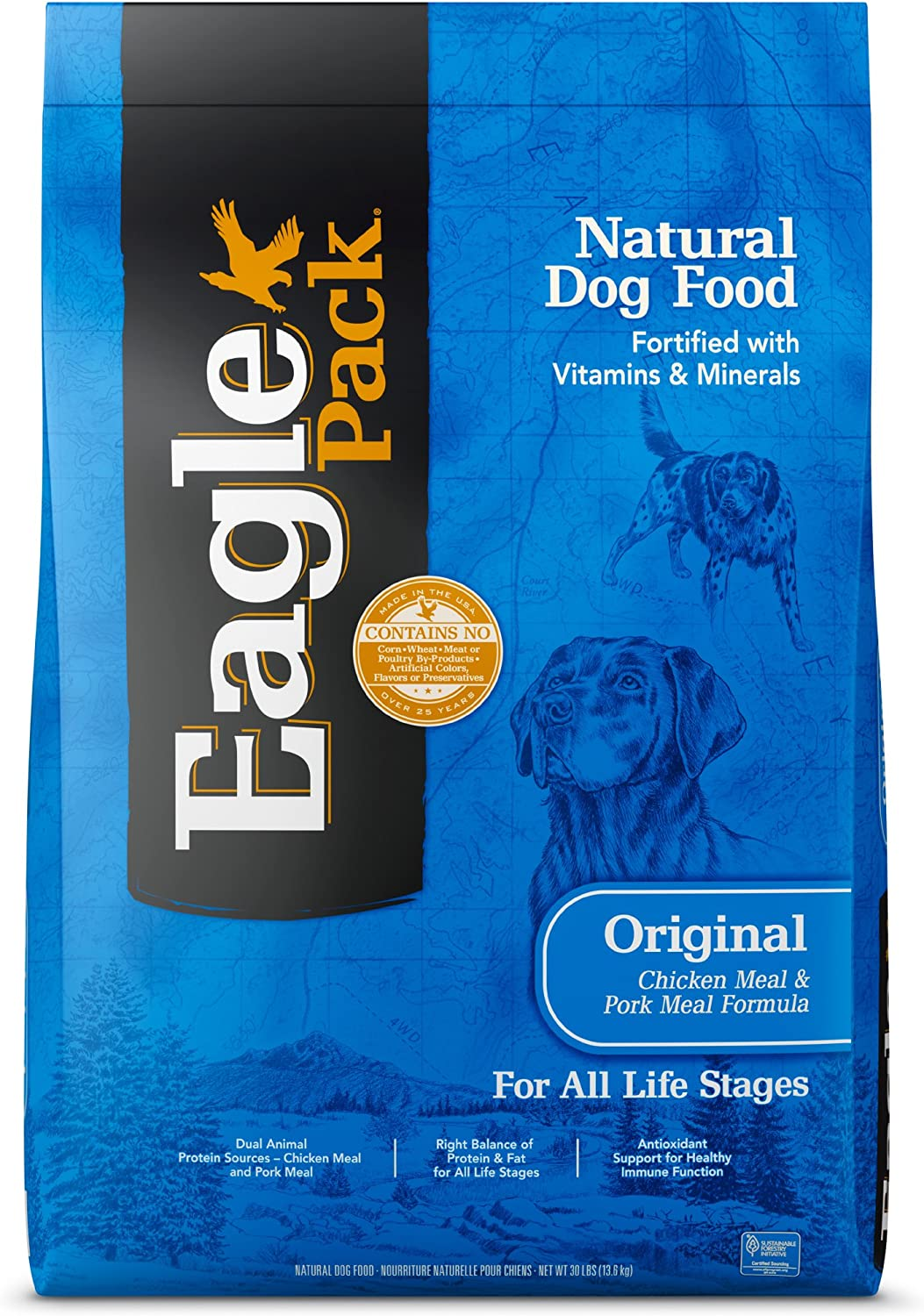 Eagle Pack Natural Dry Dog Food Chicken Pork
