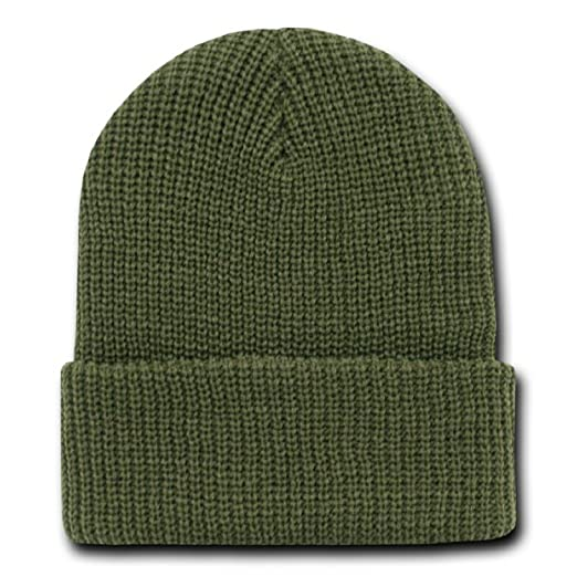 Image Unavailable. Image not available for. Color  OLIVE GREEN LONG WATCH CAP  BEANIE ... dda38645b47