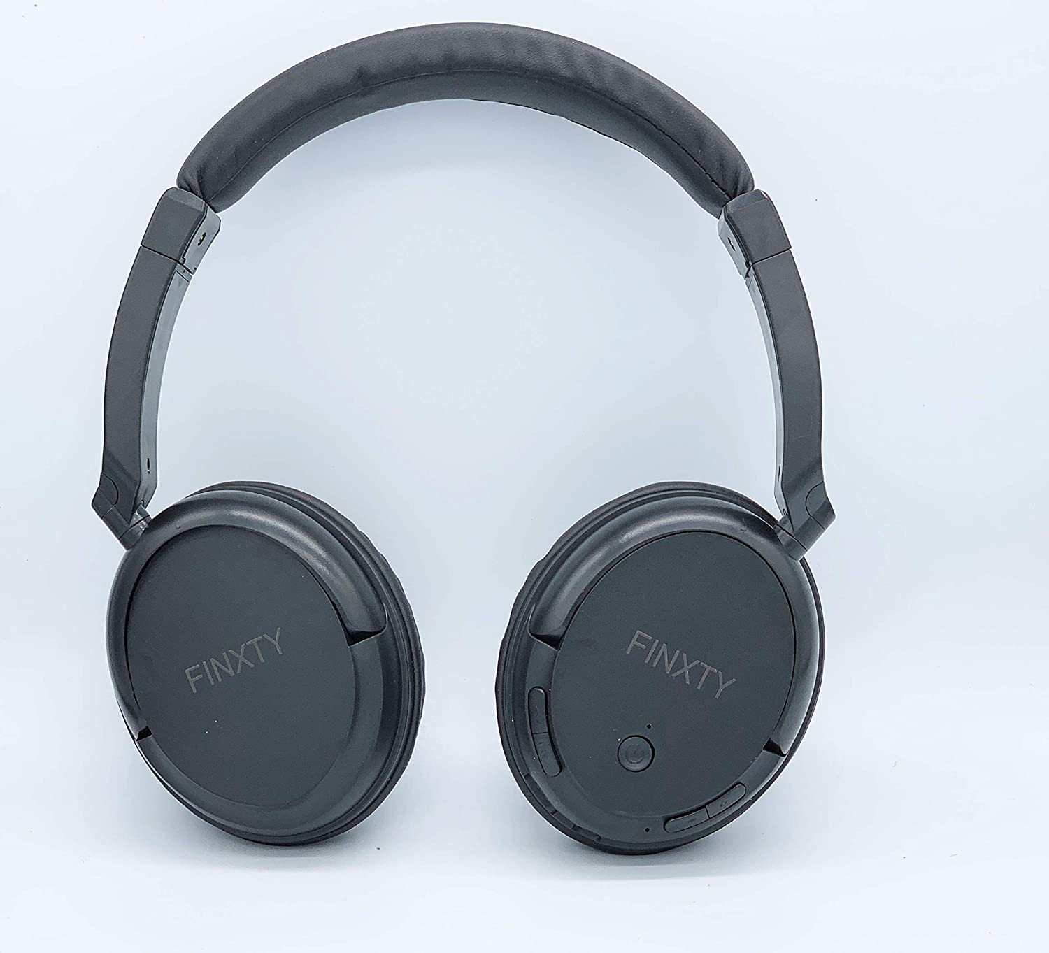 FINXTY Foldable Bluetooth Stereo Headphones Durable Over Ear Headphones with Soft Protein Ear Pads & 24 Hour Play time Noise Cancelling Mic Wireless Headphones