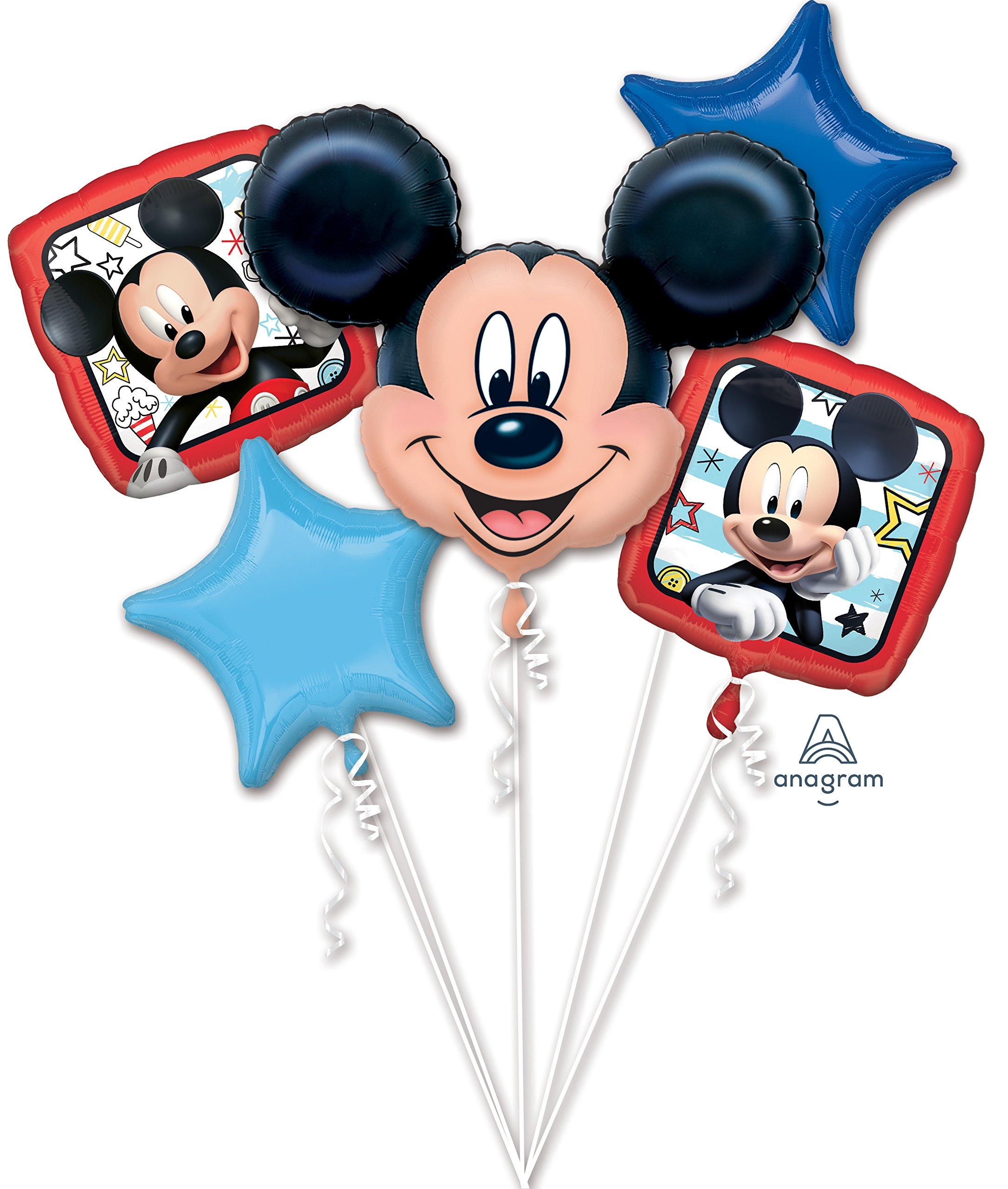 The Ultimate Mickey and Minnie Mouse Airwalker Birthday Party Supplies and 13pc Balloon Bouquet Decorations