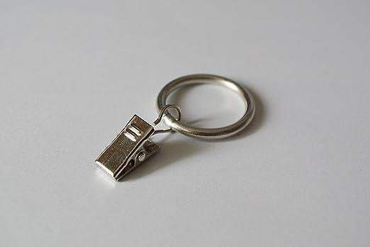 Silencio cortina anillos con clips pinzas acero inoxidable ø30 mm ...