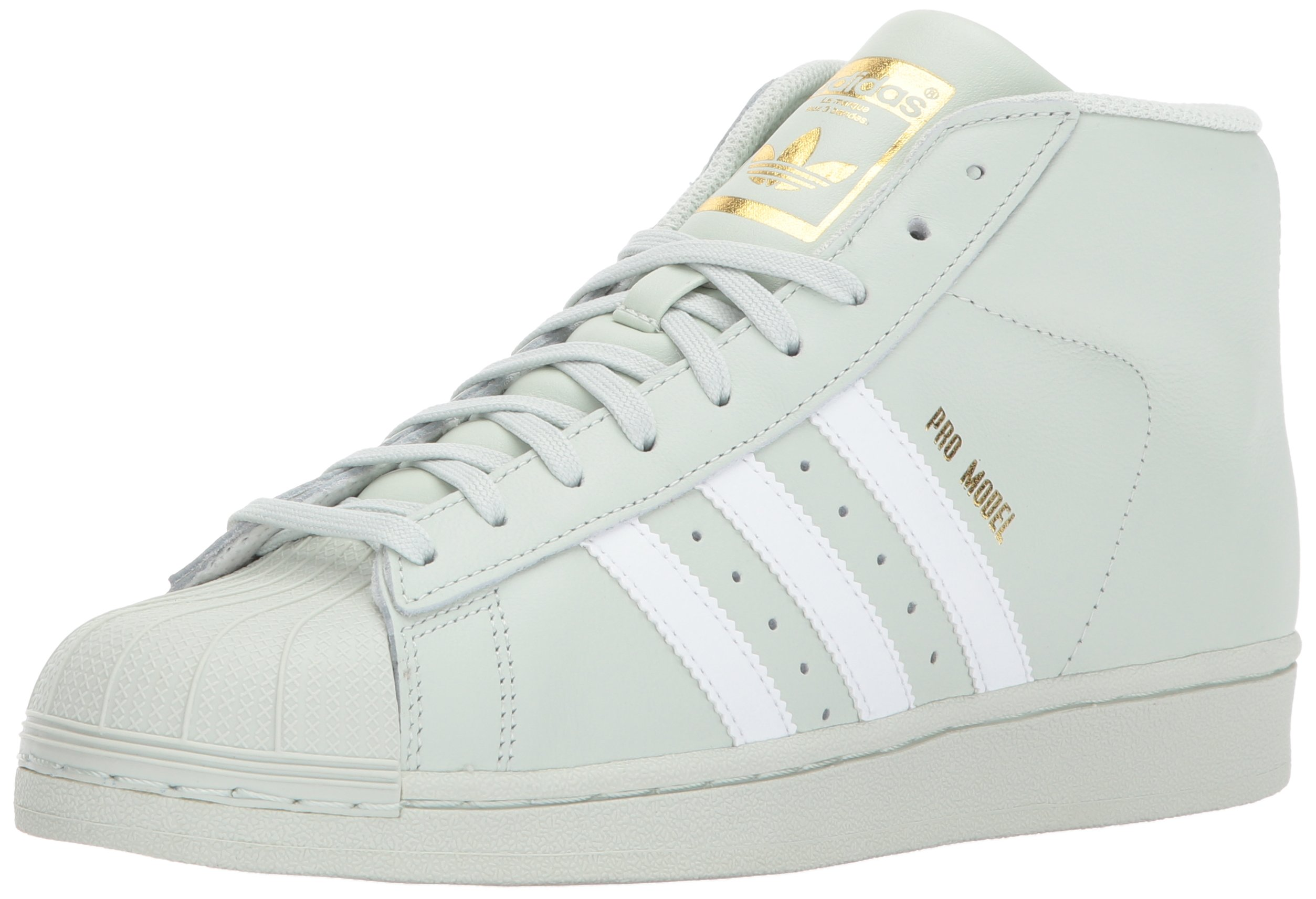 check out f93fa deaee Galleon - Adidas Originals Men s Pro Model Sneaker, Linen Green White Gold  Metallic, 7 M US