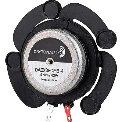 Dayton Audio DAEX32QMB-4 Quad Feet Mega Bass 32mm Exciter 40W 4 Ohm: Industrial & Scientific