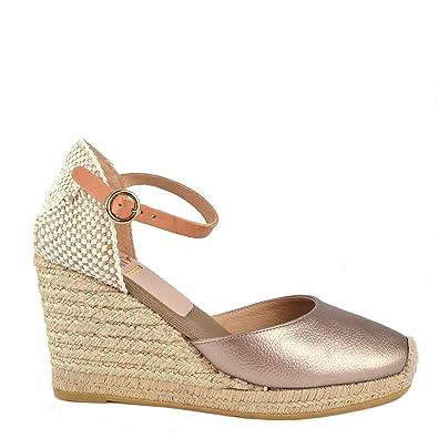06313507d0c Kanna Evita Bronze Wedge Espadrille Sandal 40EU 7UK Bronze  Amazon ...