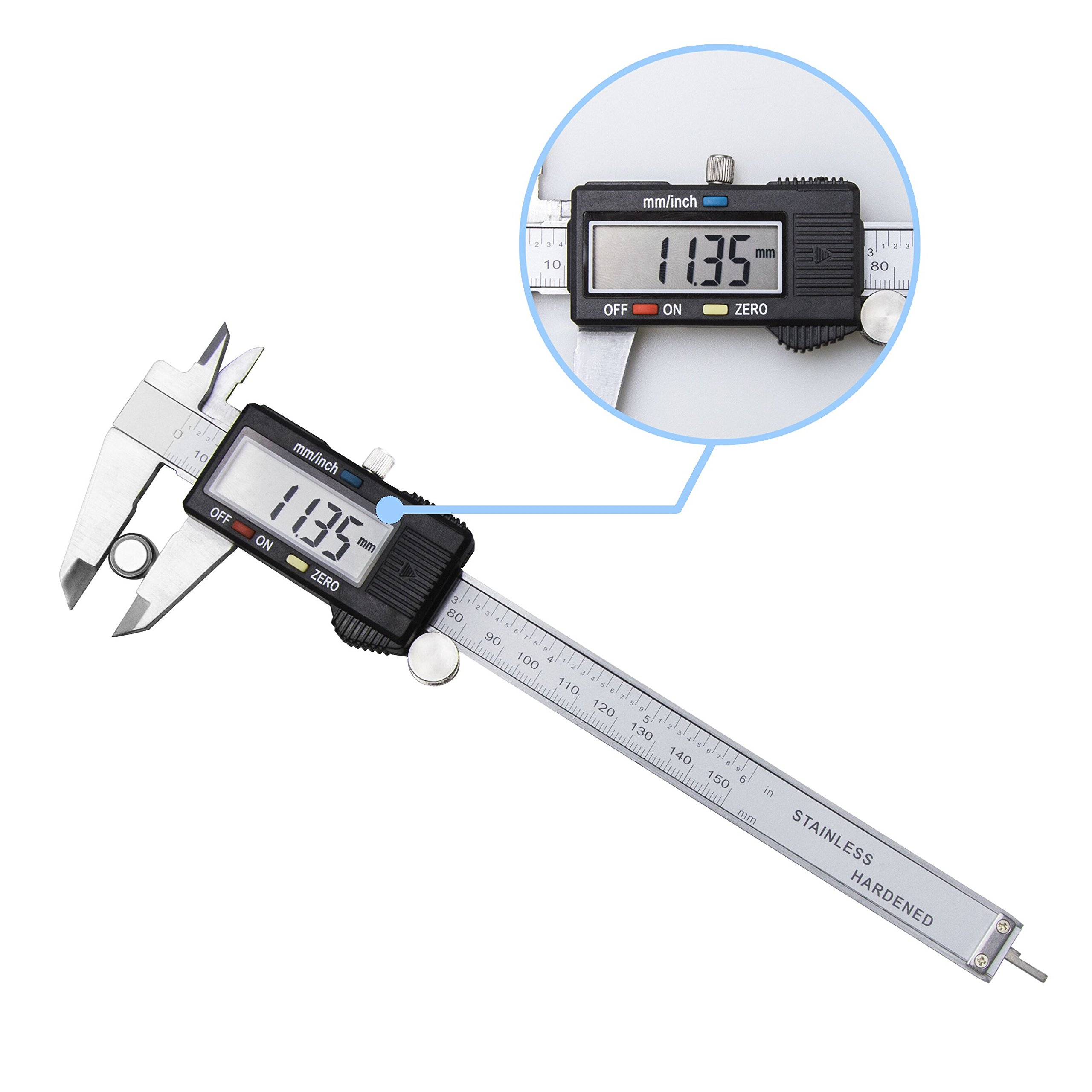 OROROW Precision 150mm/ 6inch Digital Electronic Gauge Stainless Steel Vernier Caliper Micrometer