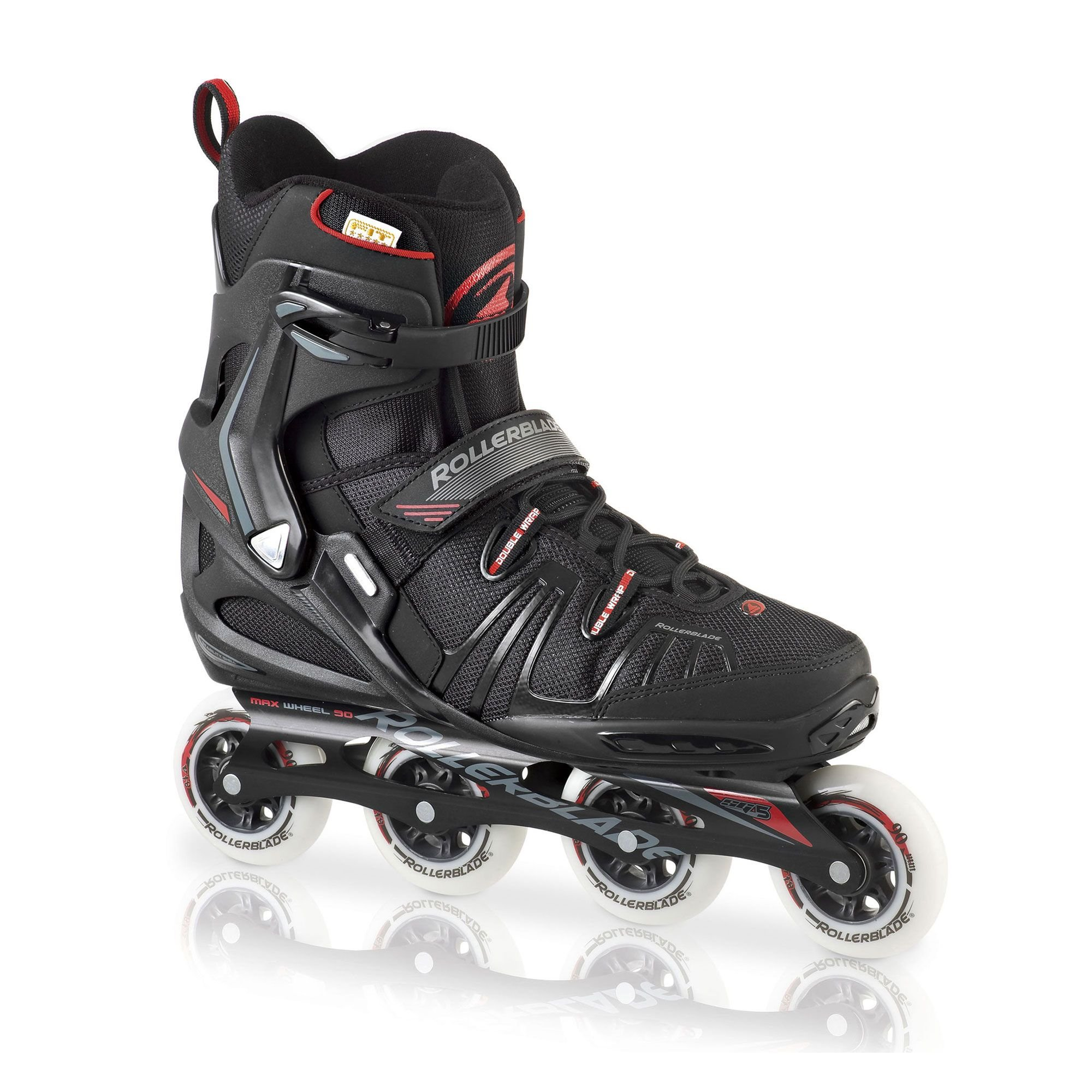 Rollerblade RB XL Skates Black 35.5 & Headband Bundle