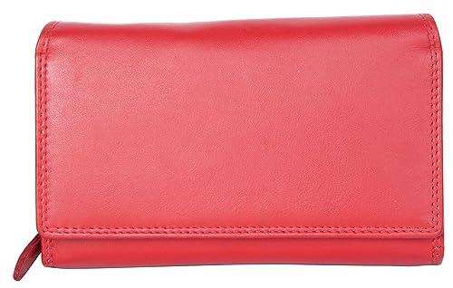 Cartera de cuero genuino de lujo rojo Wild Tiger con forro de tela: Amazon.es: Zapatos y complementos
