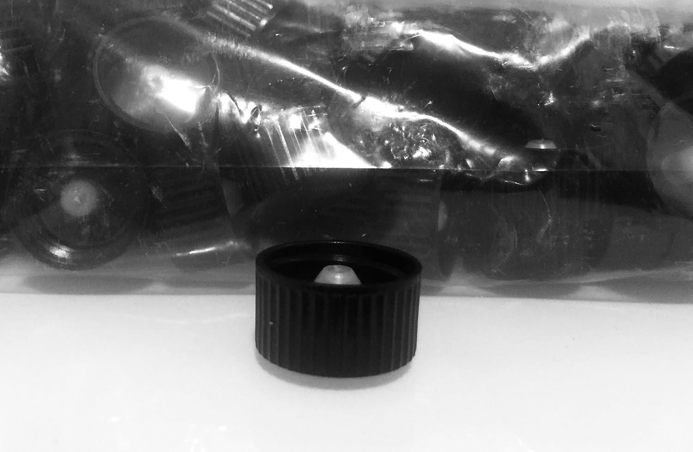 20/400 Black PHENOLIC Ribbed Cap W/Natural PE Cone/POLYCONE Qty: 500 CAPS Manufactured in China
