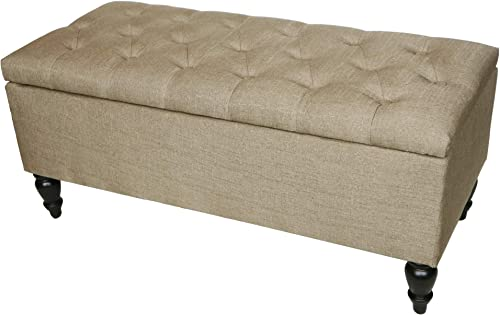 ABBLE Indoor 38'' Upholstered Tufted Storage Cocktail Ottoman