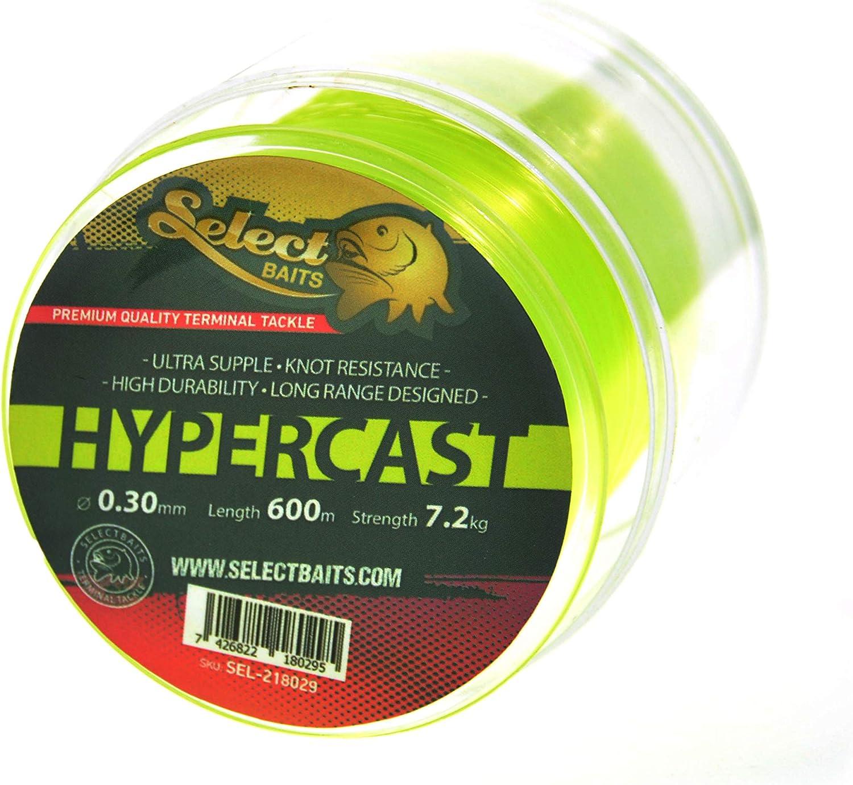Select Baits HyperCast Neon Yellow 500m Monofile Angelschnur