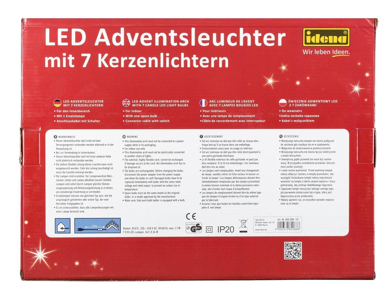 Idena LED Adventsbogen 7 Lichter, natur 8582088: Amazon.de: Beleuchtung