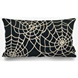 phantoscope decorative new happy halloween series towel embroidery spider web throw pillow cushion cover 12 - Primitives By Kathy Halloween