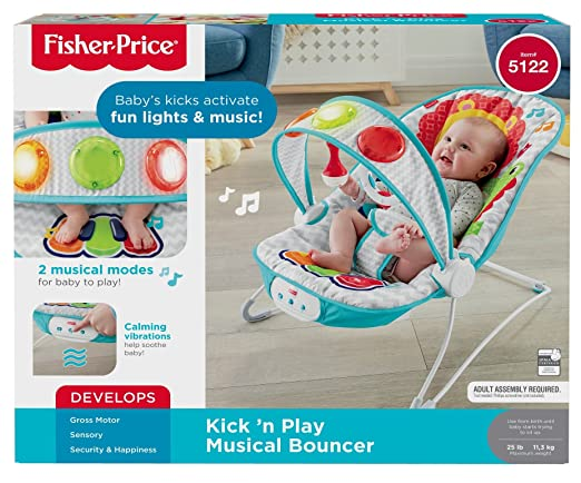 7bf70e1254d Amazon.com   Fisher-Price Kick  n Play Musical Bouncer   Baby