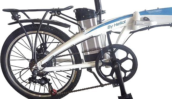 Helliot Bikes by Helliot 02 Bicicleta Eléctrica Plegable, Adultos Unisex, Blanca/Azul, M-L: Amazon.es: Deportes y aire libre