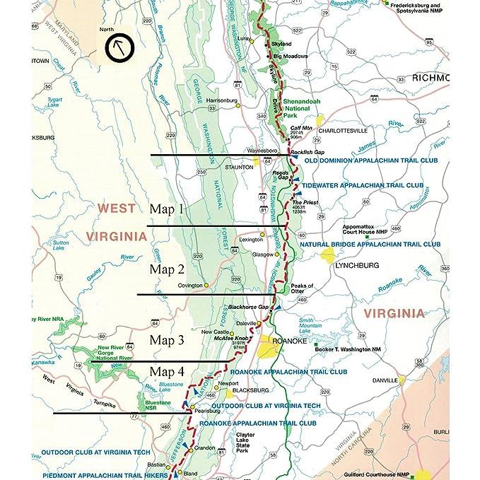 Amazon.com : Official Central Virginia Appalachian Trail Maps ...
