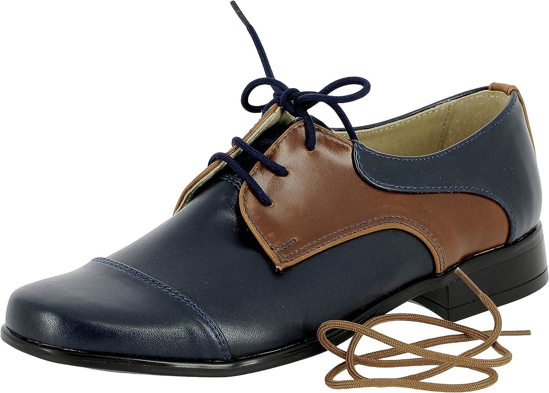 Boutique-Magique Chaussure Mariage gar/çon Marron et Bleu.