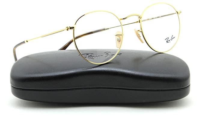 d81453e7f7 Ray-Ban RX3447V Round Metal Unisex Eyeglasses Gold Frame 2500