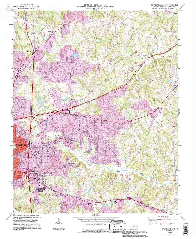 Amazon.com : YellowMaps Statesville East NC topo map, 1:24000 Scale on ohio map, va map, washington map, az map, usa map, pa map, dc map, tenn map, la map, il map, co map, tn map, north carolina map, california map, fl map, louisiana map, ky map, vt map, sc map, ga map,