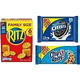 OREO, RITZ, & CHIPS AHOY! Snack Variety Pack, Cracker Snacks, Cookie Snacks, Family Size - 3 Packs
