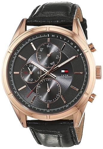 Reloj para hombre Tommy Hilfiger 1791125, mecanismo de cuarzo, diseño con varias esferas, correa de piel.: Amazon.es: Relojes