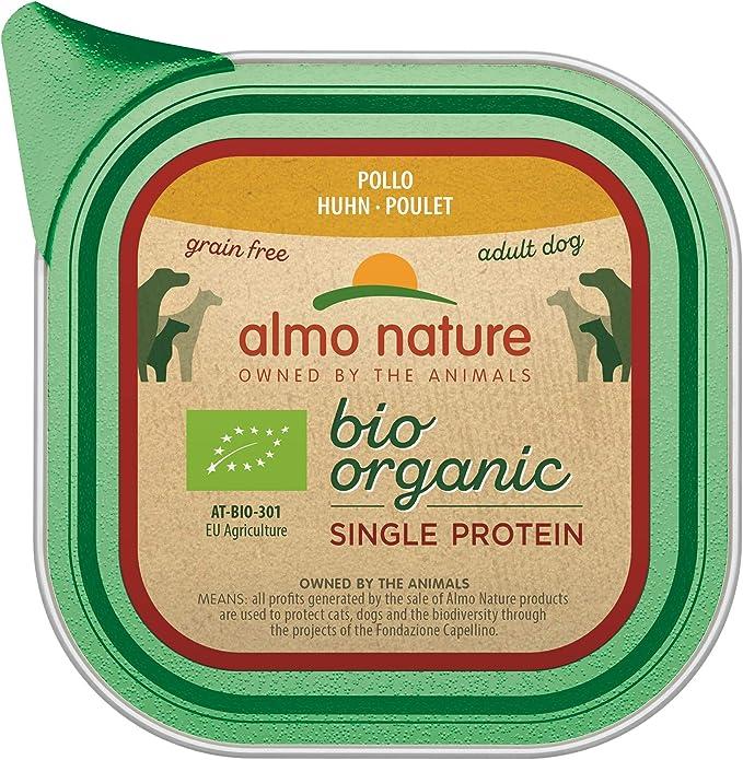 Almo Nature - Comida orgánica para Perros con proteínas de Pollo, sin Grano (Paquete de 11 bandejas de 150 g)
