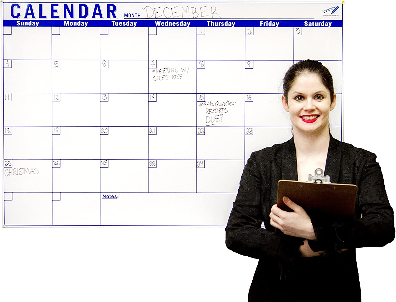 Dry Erase Calendar For Wall - 32 x 48 inch Monthly Large Calendar - Big Dry Erase Wall Calendar - Large Wall Calendar