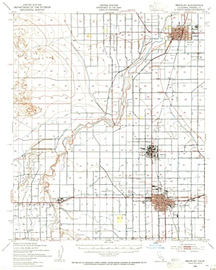 Brawley California Map.Amazon Com Yellowmaps Brawley Ca Topo Map 1 62500 Scale 15 X 15