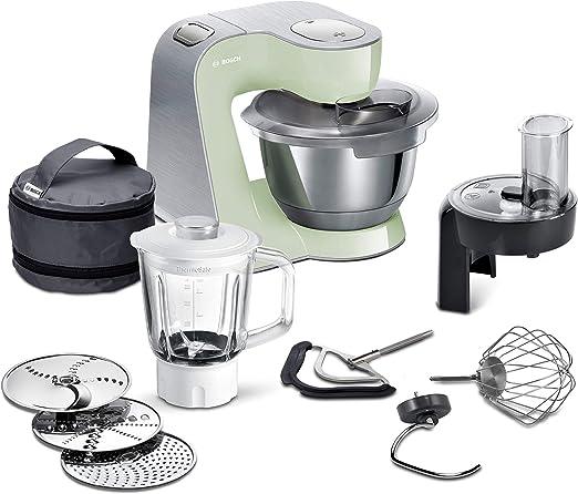 Bosch Creation Line Premium - Robot de cocina Mint/Plata.: Amazon ...
