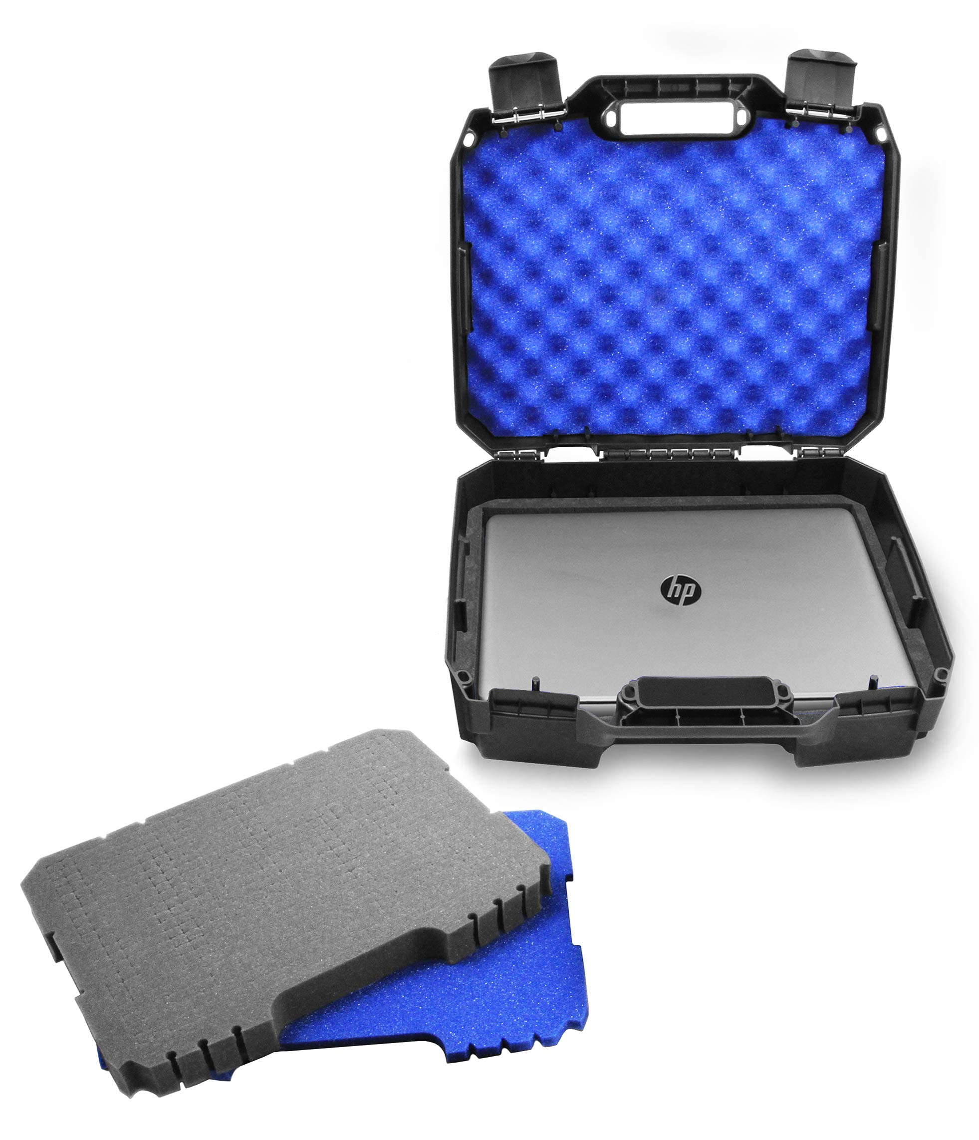 Casematix Hard Laptop Case Compatible with 15.6 inch HP Pavillion 360, Envy 360 X360, Stream 14, Chromebook 14, Spectre X360 15, LG Gram and Laptop Accessories with Customizable Foam