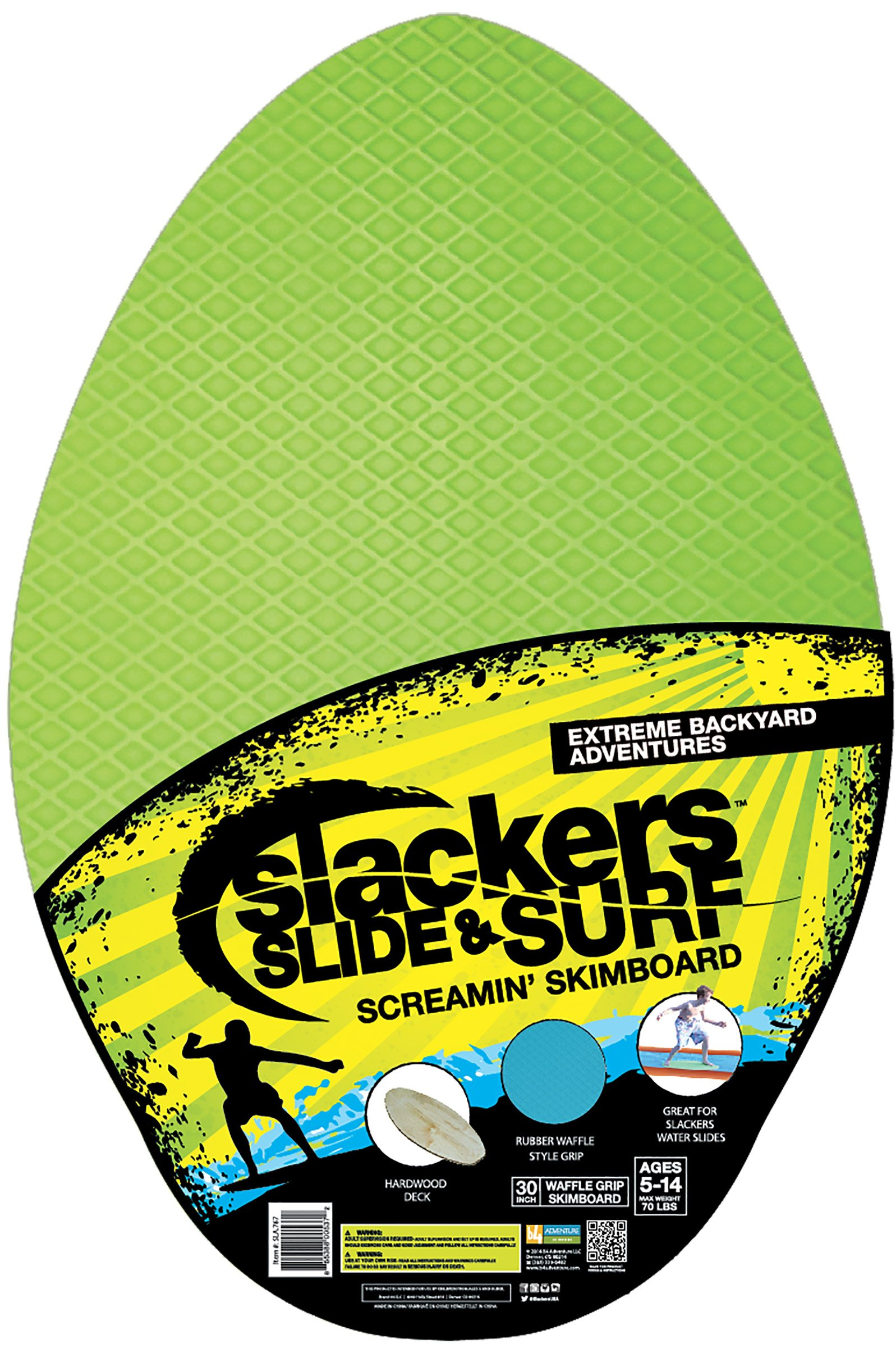 slackers Slide and Surf 30'' Surfin' Skimboard Toy