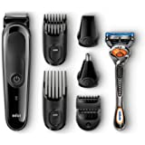 Braun Multi Grooming Kit MGK3060 8-in-1 Beard / Hair Trimmer for Men, Precision Face and Head Trimming