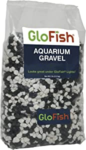 Glofish Aquarium Gravel, Black with White Fluorescent, 5-Pound Bag