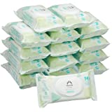 Amazon Brand - Mama Bear Fresh Lightly Fragranced Baby Wipes – Pack of 15 (Total 840 Wipes)