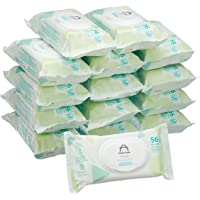 Marca Amazon - Mama Bear Fresh Toallitas húmedas para bebé - 15 Paquetes (840 Toallitas