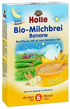 Holle Papilla de Trigo y Plátano con Leche (+ 6 meses) - 3 Paquetes