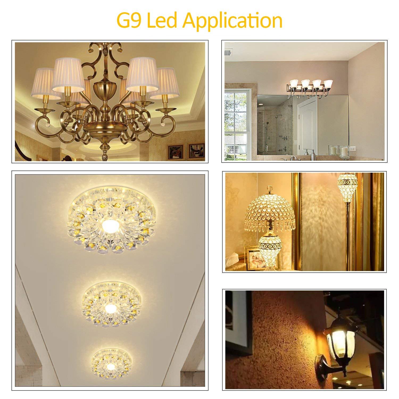 6-Pack Energy Saving G9 Bulbs 220-240V Daylight White 6000K 360/° Beam Angle G9 LED Bulb 5W//400LM 40 Watt Halogen Bulbs Equivalent