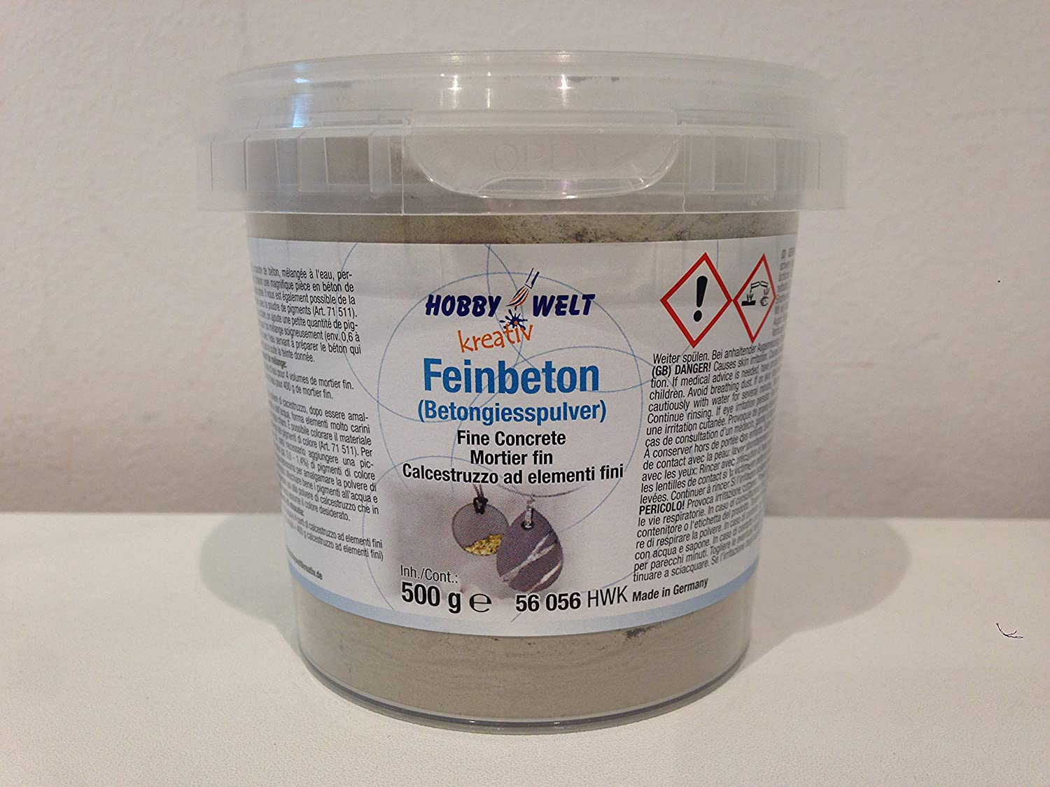 Hobby World Creative Fine Concrete Concrete (Concrete Casting Powder), 500 g, Made in Germany Creartec Artidee