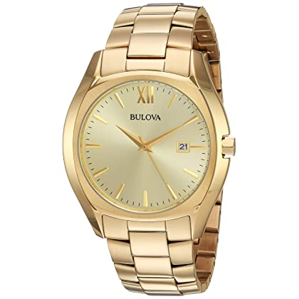 Bulova Men's 97B146 Analog Gold-tone Watch
