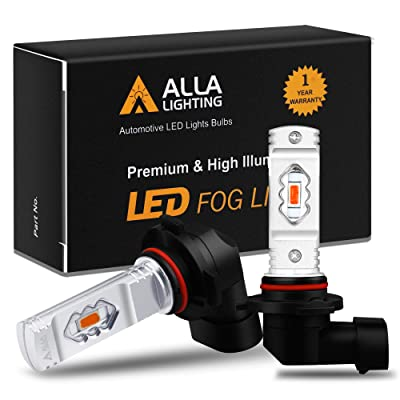 Alla Lighting 3800lm 9006 Red LED Fog Lights Bulbs ETI 56-SMD Xtreme Super Bright HB4 9006 LED Bulbs Replacement for Cars, Trucks, SUVs, Vans: Automotive