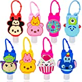 GROBRO7 8Pcs Mini Silicone Travel Bottles Assorted 30ml Hand Sanitizer Holder Portable Kids Empty Bottles Containers…