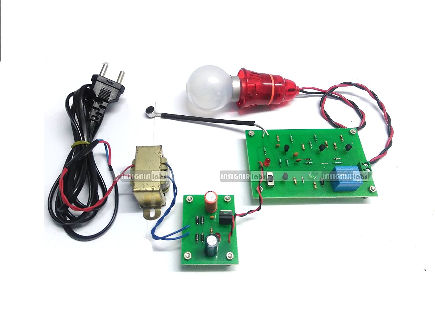 Insignia Labs Clap Switch Based Light Bulb Control Project Kit Circuit Mini With Ac Supply Input Electronic School College Industrial
