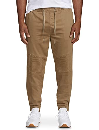 ba2d53687dd656 Amazon.com  Society of One by DXL Big and Tall Stretch Twill Moto Joggers   Clothing