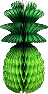 product image for 3-Pack 13 Inch Honeycomb Pineapple Party Decoration with Green Leaves (Lime)