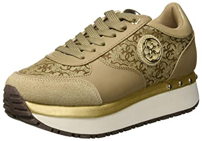 Guess Tiffany, Chaussures de Gymnastique Femme, Beige Beibr, 38 EU c7eb7ea7ab8c