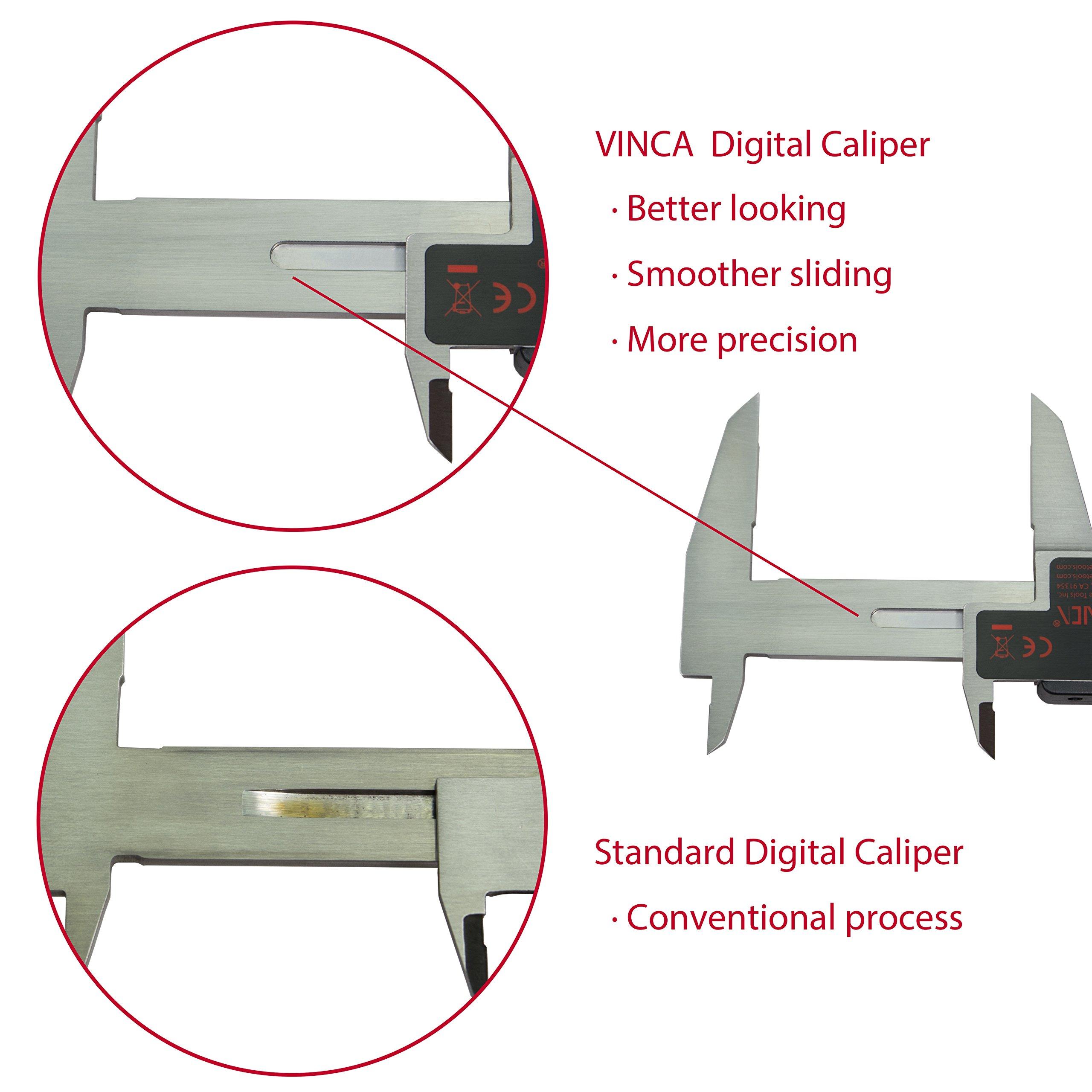 DCLA-1205 Quality Electronic Digital Vernier Caliper Inch//Metric//Fractions 0-12