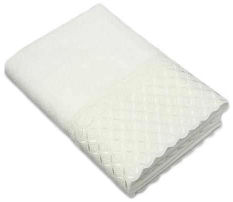 avanti linens eyelet scallop bath towel white