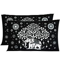 """Rrc Rr Creations Cotton 2 Piece Pillow Cover Set - 18"""" X 27"""", Multicolor"""