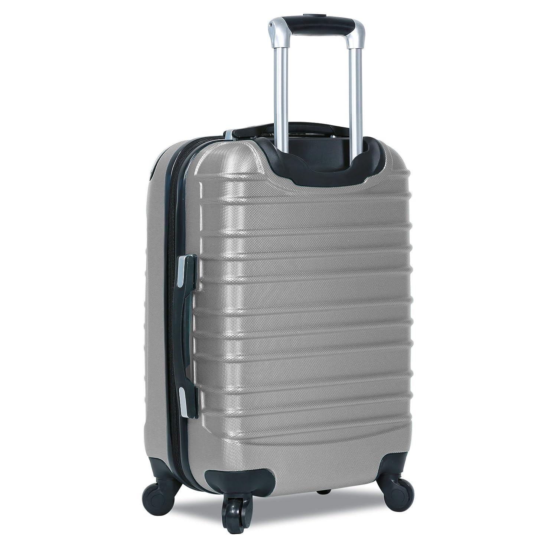 Dejuno Impact Hardside 3-Piece Spinner Luggage Set-Pink World Traveler 25DJ-610-PINK