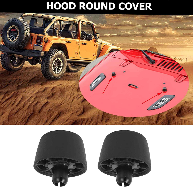 Rubber Hood Stop Support Bonnet Bumper Cushion for Jeep Wrangler JK 2007-2017 ,2 Pack