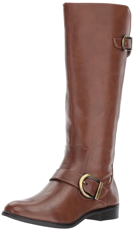 LifeStride Women's Rosaria Equestrian Boot B074XHP594 11 W US|Dark Tan